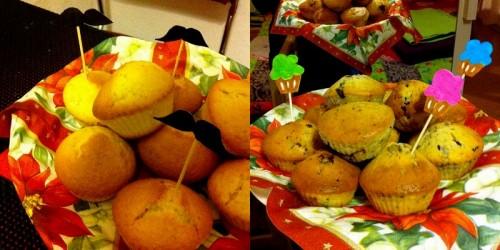 muffins, cuisine, recette, chocolat, coco, pavot, décorations