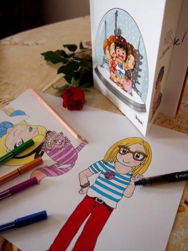 dessin, crayons de couleurs, couleurs, dessiner, Tokyobanhbao