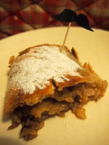 apfel strudel, cuisine allemande, pommes, épices, noix, amandes, recette, dessert